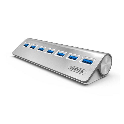 Bộ chia USB 7 cổng USB 3.0 Aluminium Unitek Y-3187