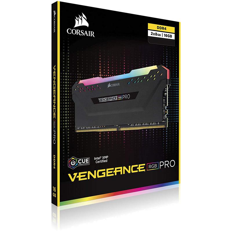 Ram PC Corsair Vengeance RGB Pro 16GB 3600Mhz DDR4 (2x8GB) CMW16GX4M2C3600C18