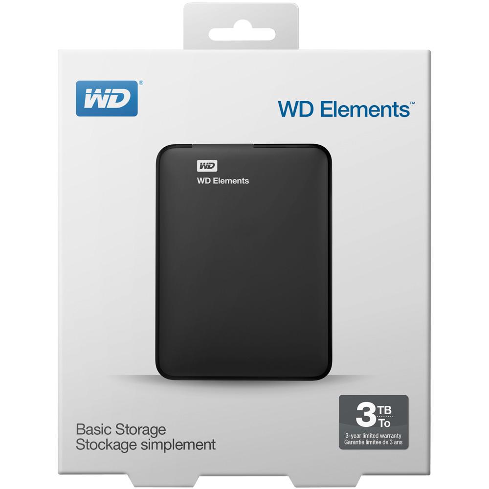 Ổ cứng di động Western Digital Elements 3TB WDBU6Y0030BBK-WESN