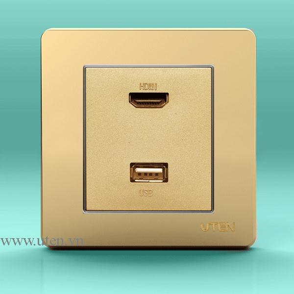 Ổ cắm HDMI + USB uten Q7