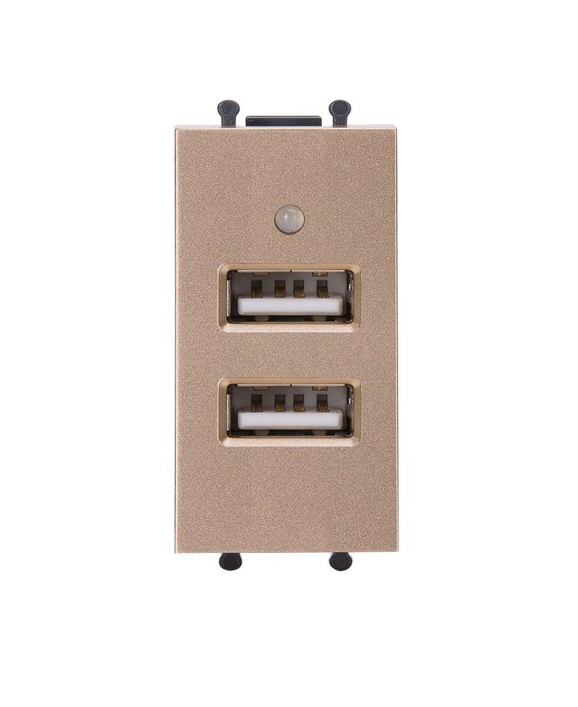 Hạt ổ cắm USB uten Q120 gold