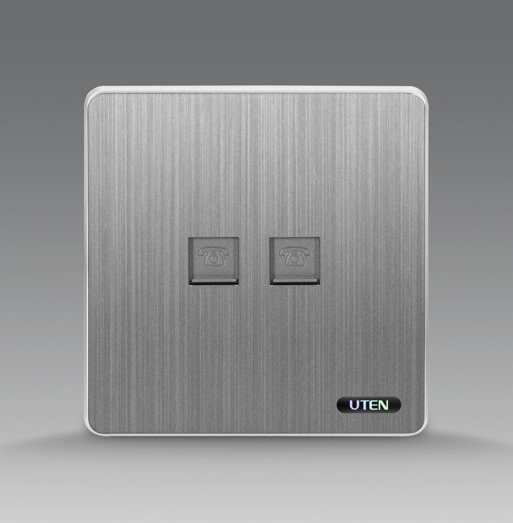 Bộ ổ cắm đôi điện thoại uten S300 2TEL