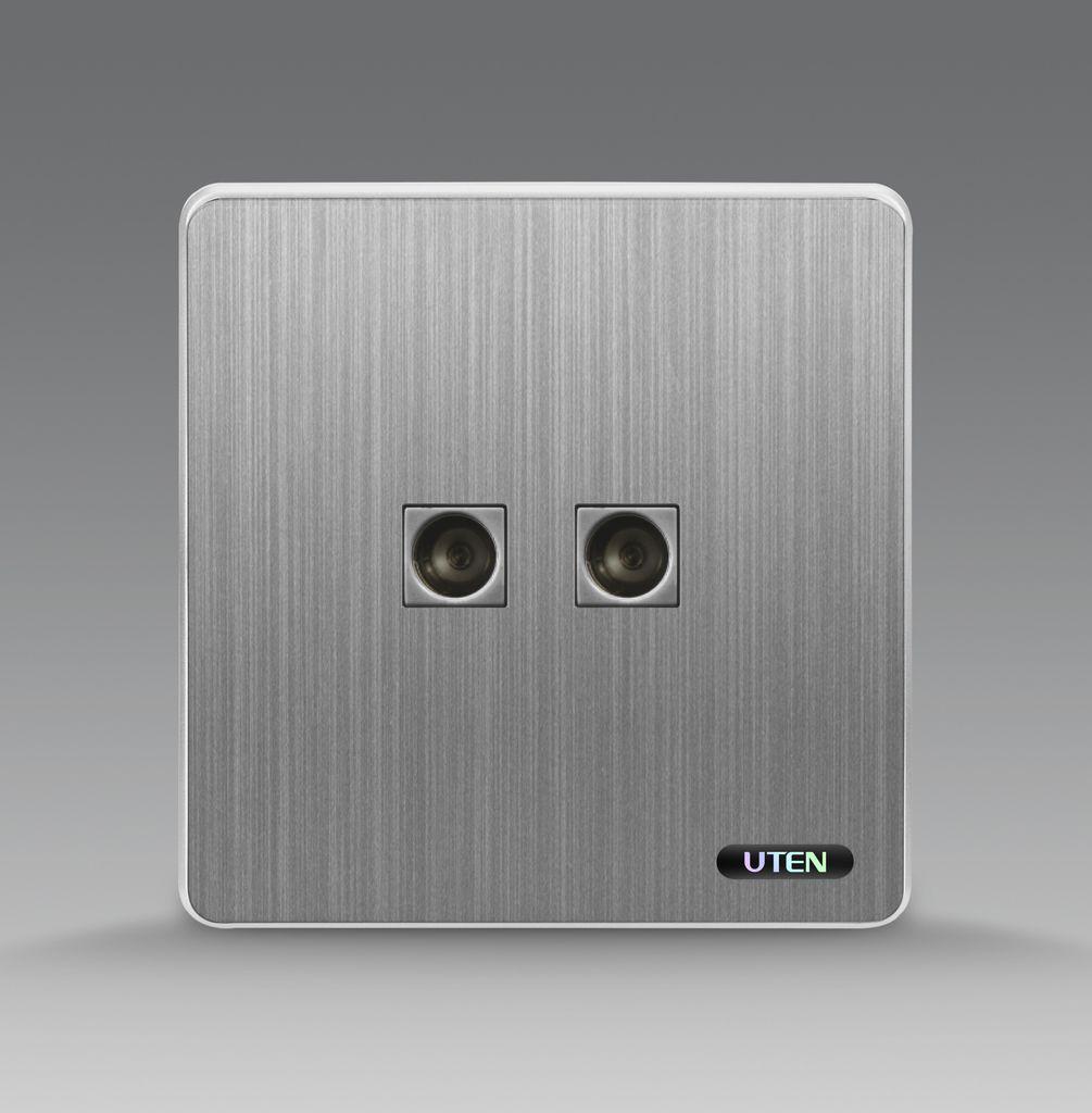 Bộ ổ cắm đôi tivi uten S300 2TV