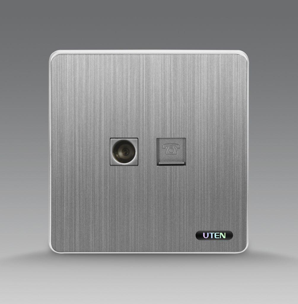 Bộ ổ cắm tivi + điện thoại uten S300 TVTEL