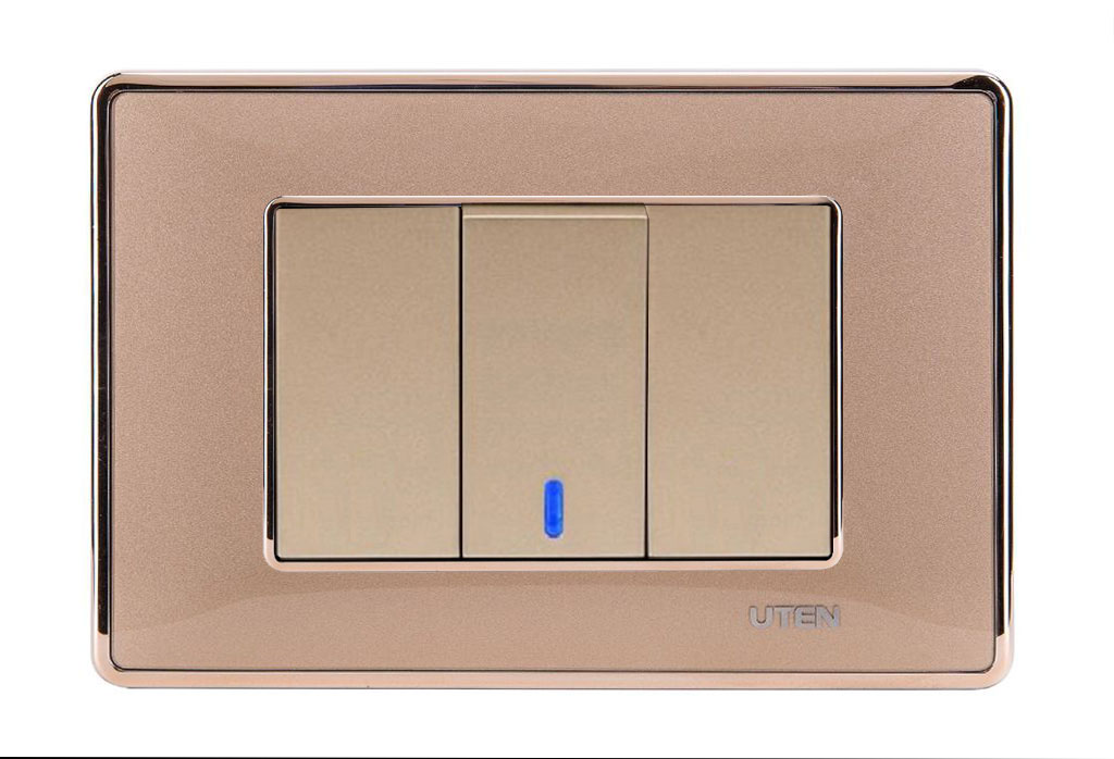 Bộ công tắc đơn 1 chiều LED Q120 D Gold