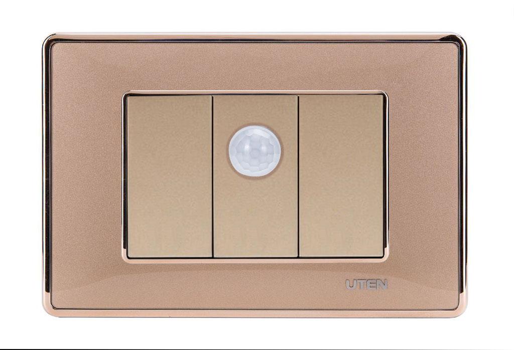 Bộ thiết bị cảm biến cơ thể người uten Q120D Gold viền trơn