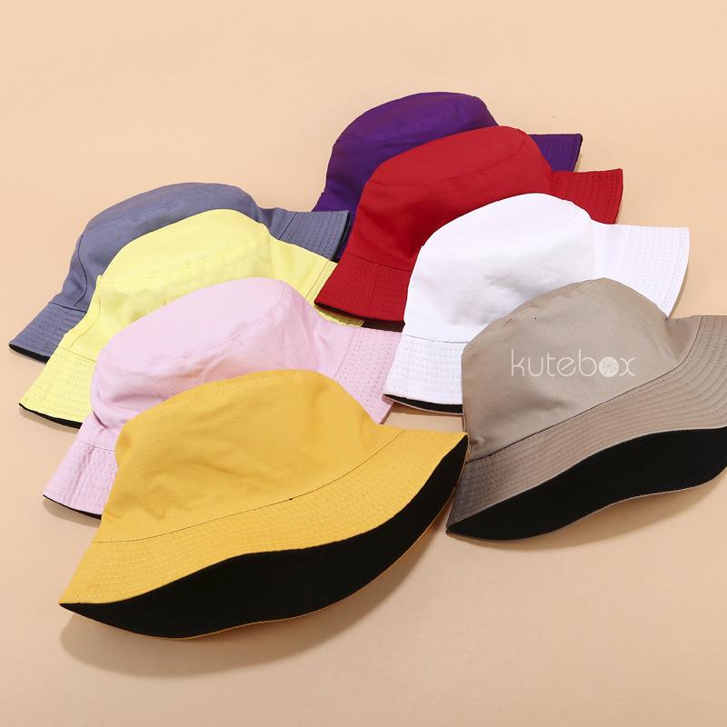 Mũ nón bucket trơn hai mặt