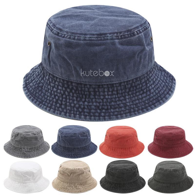 Mũ nón bucket jean trơn