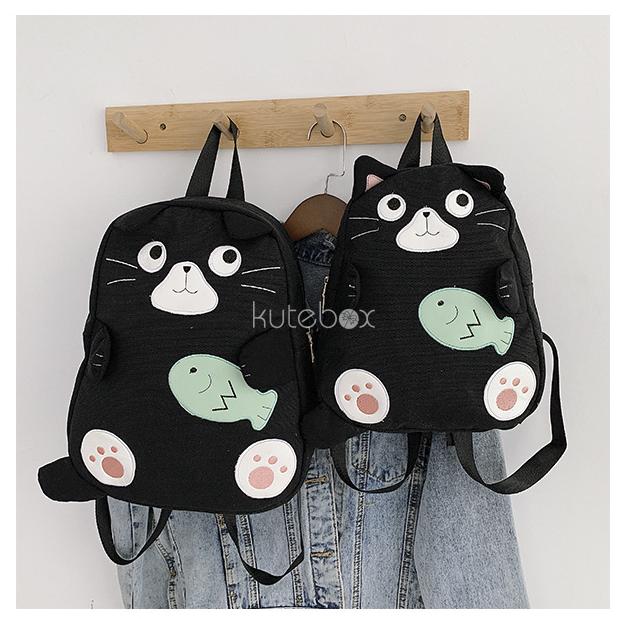 Balo mèo cá Cat Fish Black
