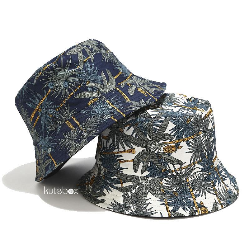 Mũ bucket hai mặt họa tiết nhiệt đới
