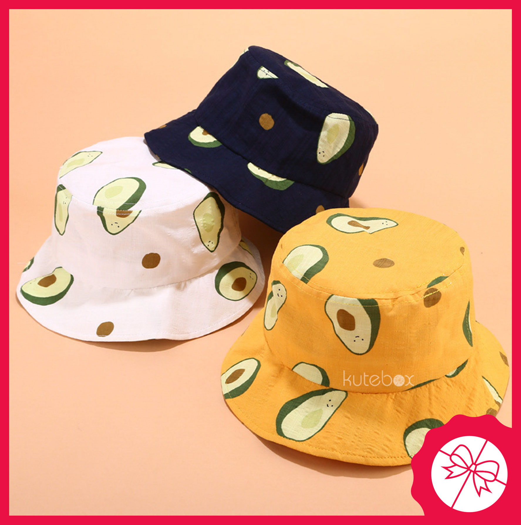 Mũ nón bucket bơ Avocado