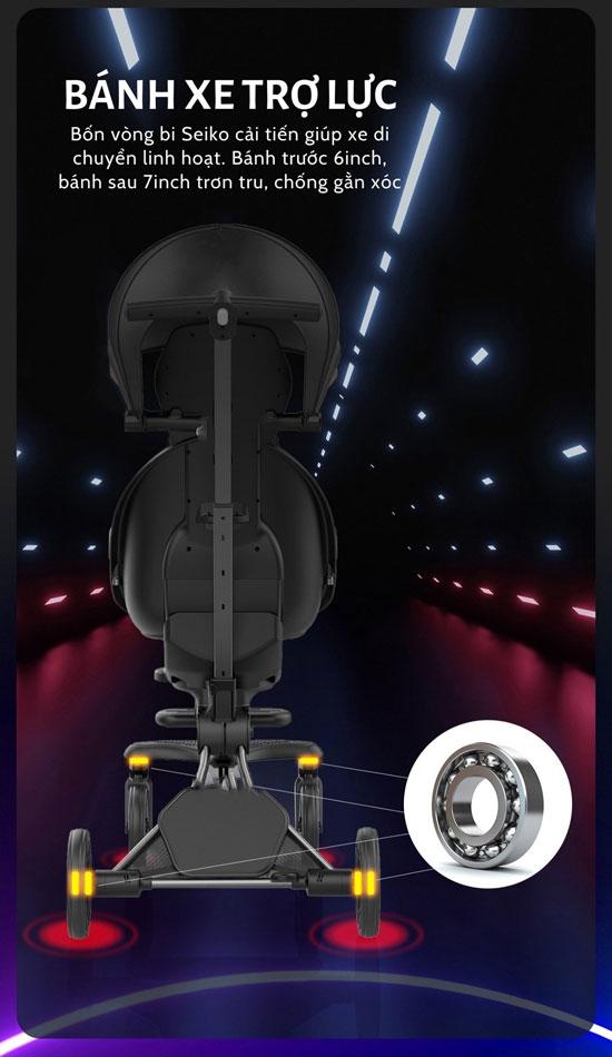 Xe đẩy du lịch cao cấp Baobaohao V8 bánh xe thiết kế trợ lực