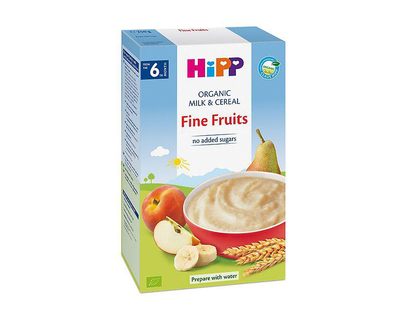 Bột ăn dặm Hipp hoa quả tổng hợp chuối táo lê mơ 250g