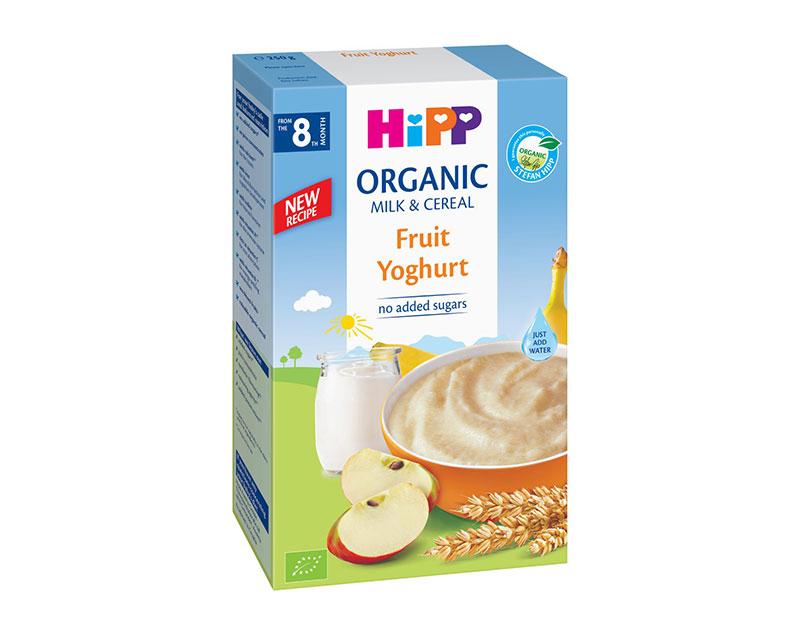 Bột dinh dưỡng Hipp hoa quả nhiệt đới sữa chua 250g ( 8+)