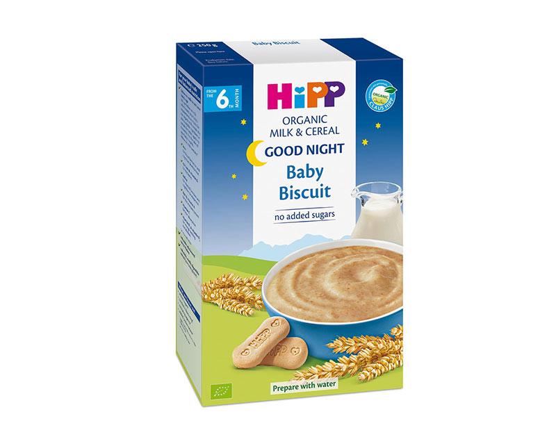 Bột ăn dặm Hipp sữa bích quy 250g