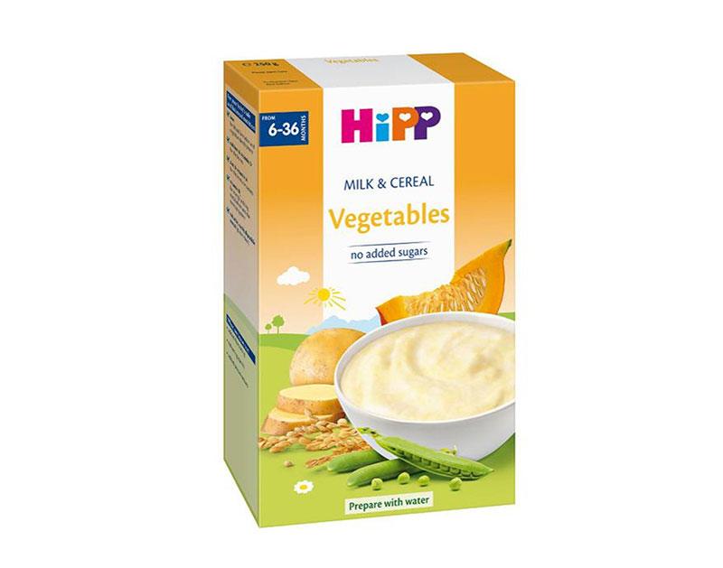 Bột ăn dặm Hipp sữa ngũ cốc và rau củ 250g