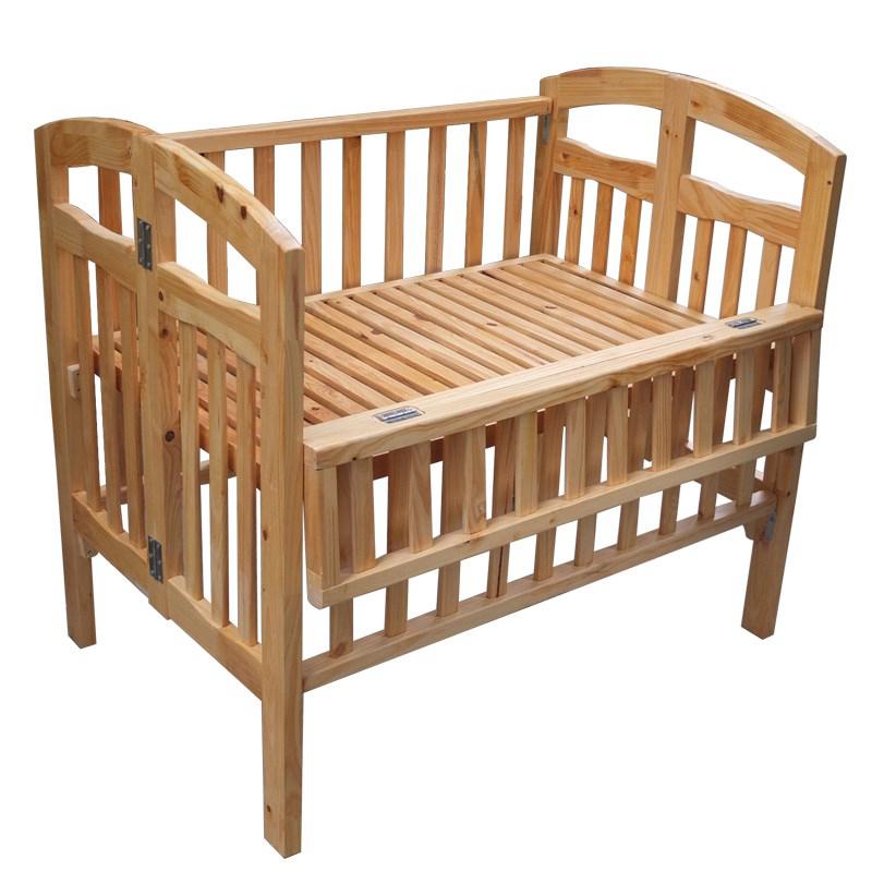 cũi gỗ thông xuất khẩu cho bé