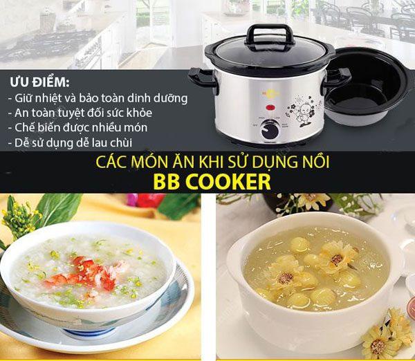 Ưu điểm của nồi nấu chậm BBCooker