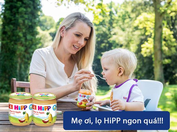 Dinh dưỡng đóng lọ Hipp lê táo 125g
