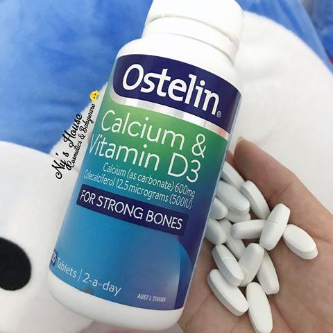 Ostelin Calcium & Vitamin d3 cho bà bầu của Úc
