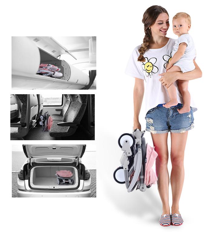 xe đẩy vovo travel có thể xách tay lên máy bay
