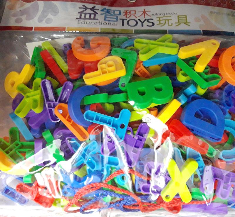 Bộ túi ghép chữ và số 8 màu 300-15