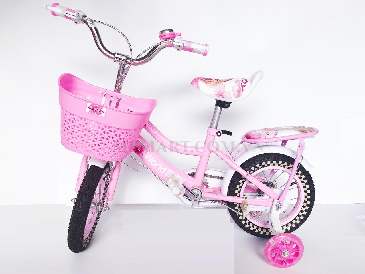 Xe đạp trẻ em Baoleqi 26 có gacbaga (màu hồng)