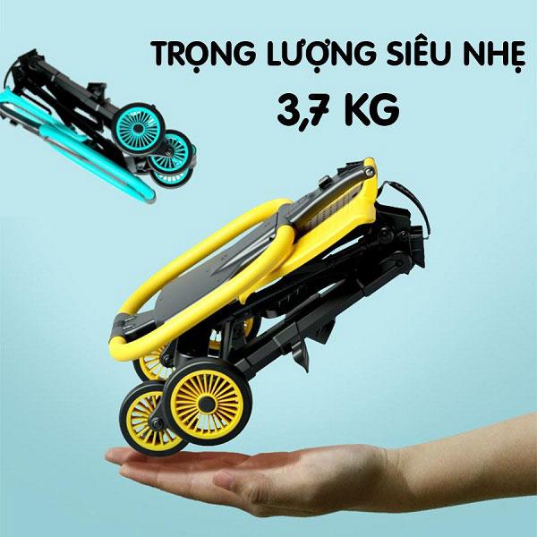 Xe đẩy du lịch siêu nhẹ chỉ có 3.7kg