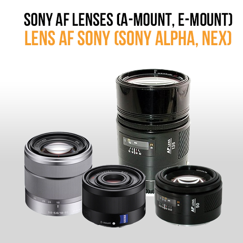 Lens AF Sony (for Sony alpha, Sony NEX)