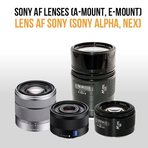 Lens AF Sony (for Sony alpha, Sony NEX)
