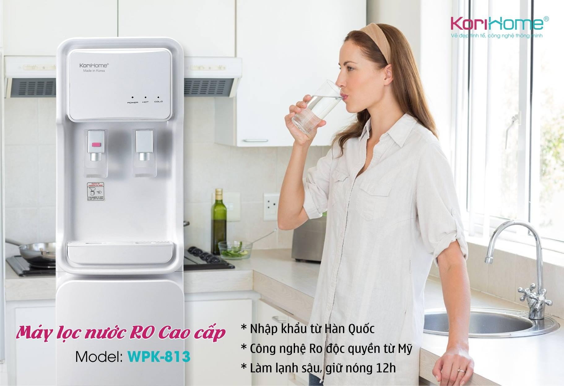 Máy lọc nước tích hợp nóng lạnh KoriHome WPK-813 (Ảnh 4)