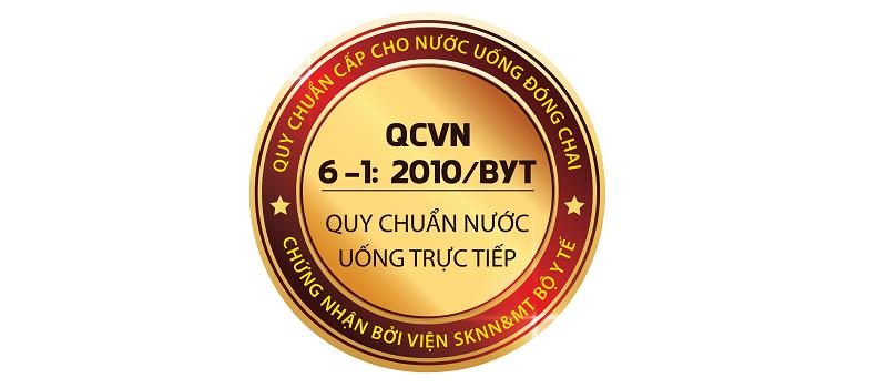 Viện SKNN&MT - Bộ Y Tế đã cấp chứng nhận QCVN6-1