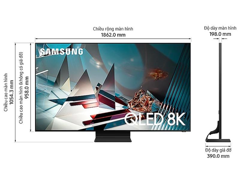 Thông số kỹ thuật Smart Tivi SamSung 8K 75 inch 75Q800TA