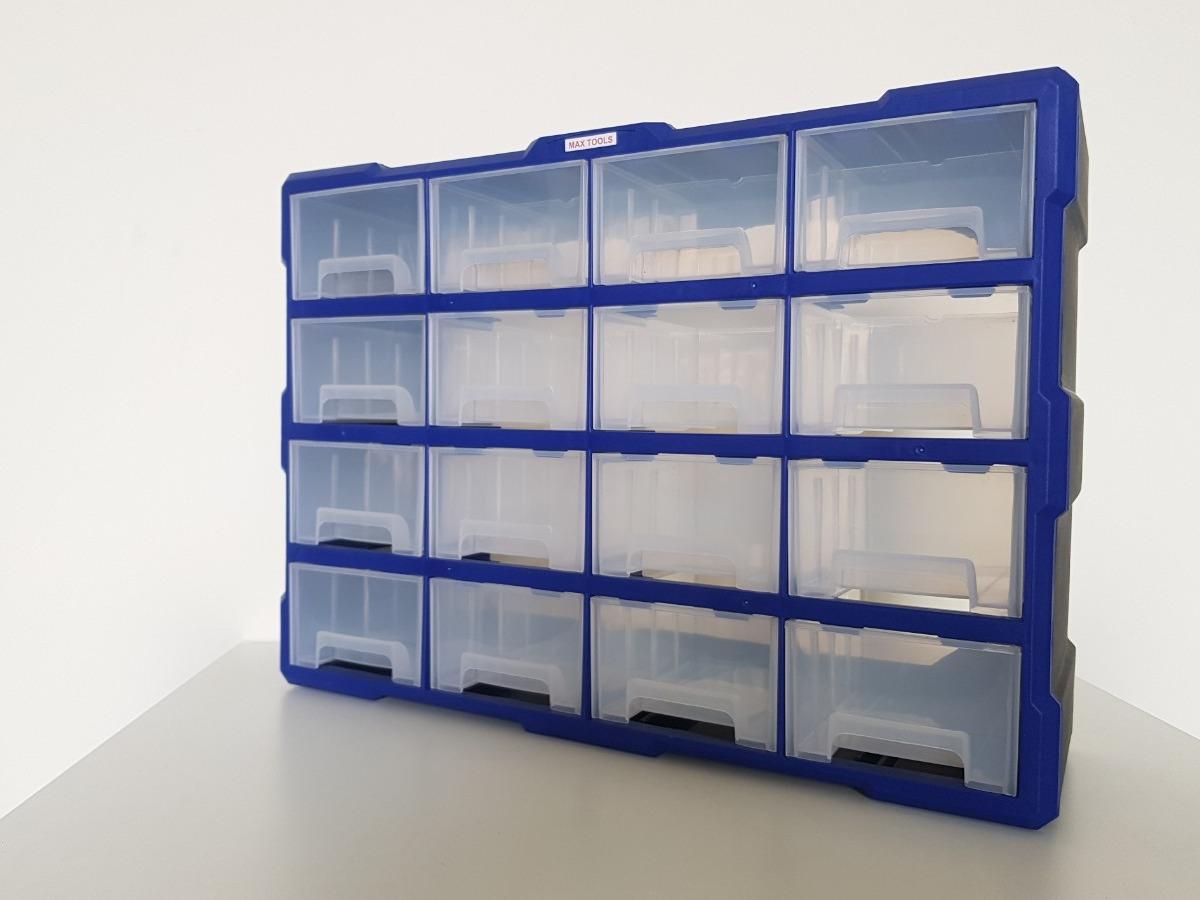 Tủ đựng linh kiện màu xanh 16 ngăn mã A053