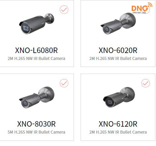 Camera Wisenet outdoor 2MP dòng X series