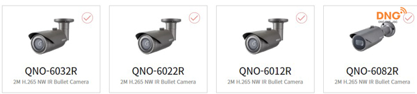 Camera Wisenet outdoor 2MP dòng Q series