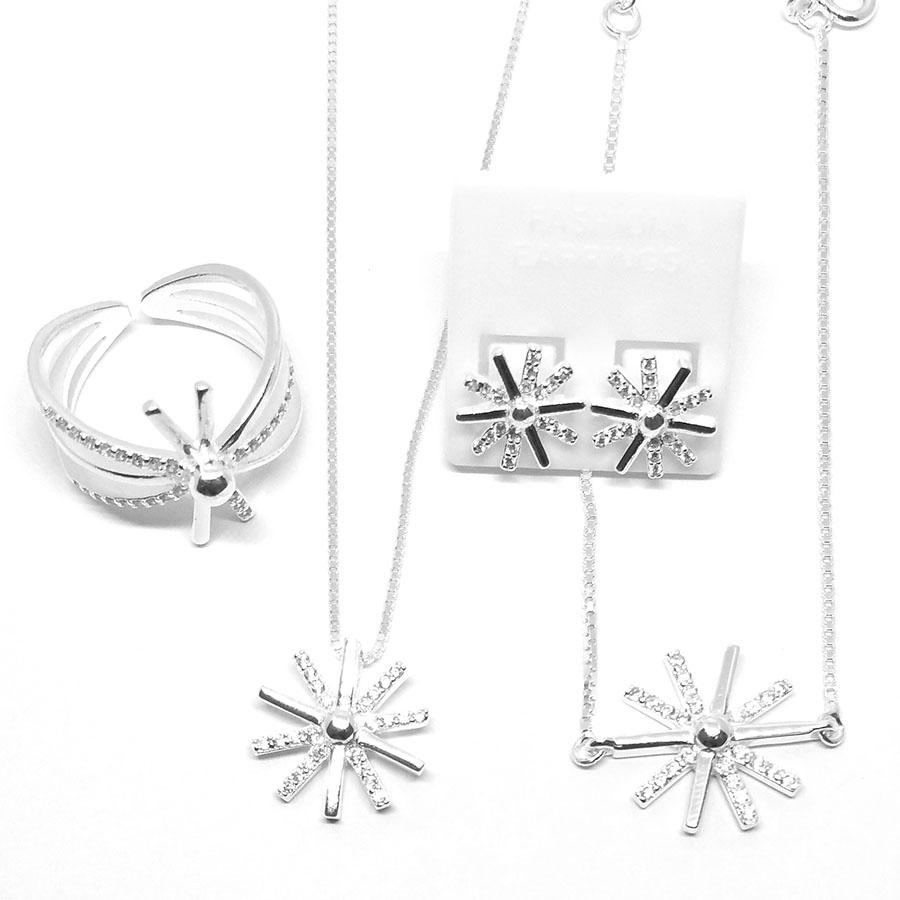 bộ trang sức dây chuyền lắc tay nhẫn và hoa tai trong phim hậu duệ mặt trời dmd071 bạc ý