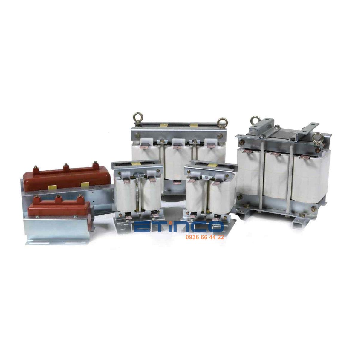 Cuộn kháng dùng cho tụ 100KVAR – 440V – p 14% Nuintek