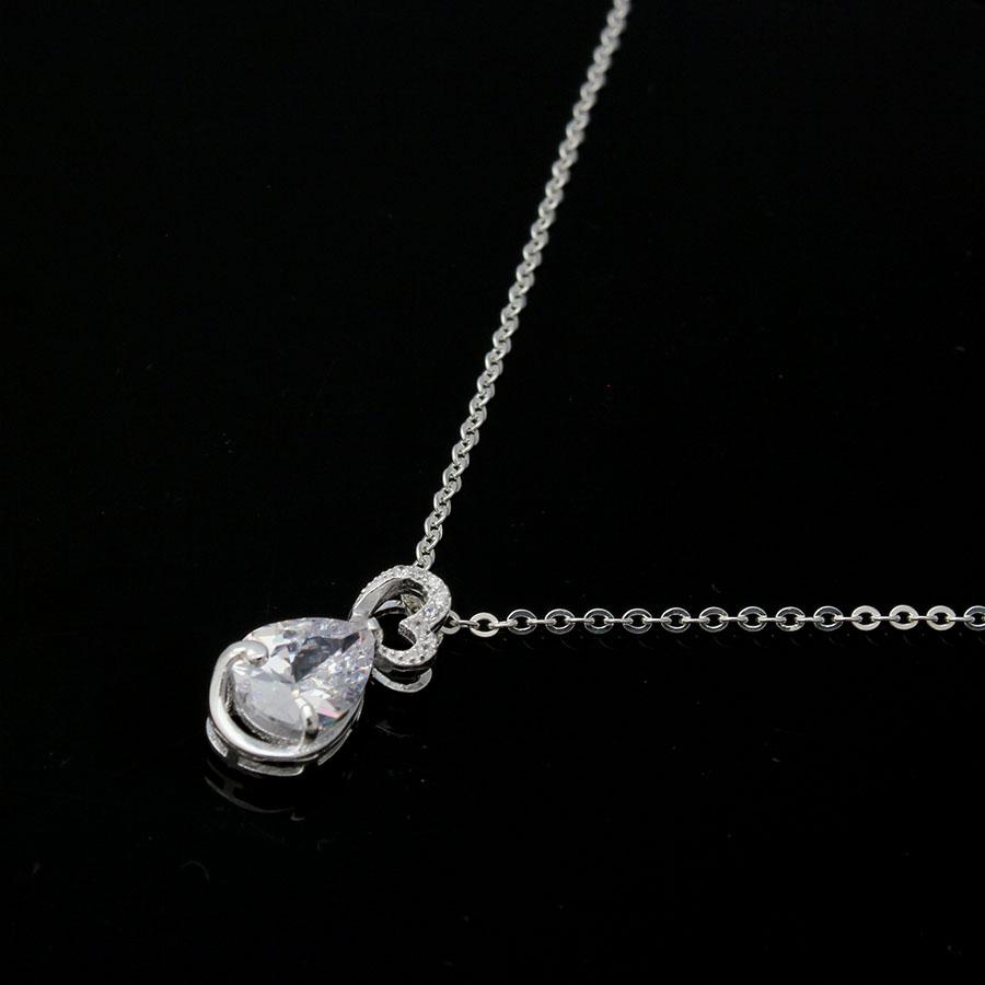 dây và mặt dây chuyền bạc ý dmd159t giọt lệ