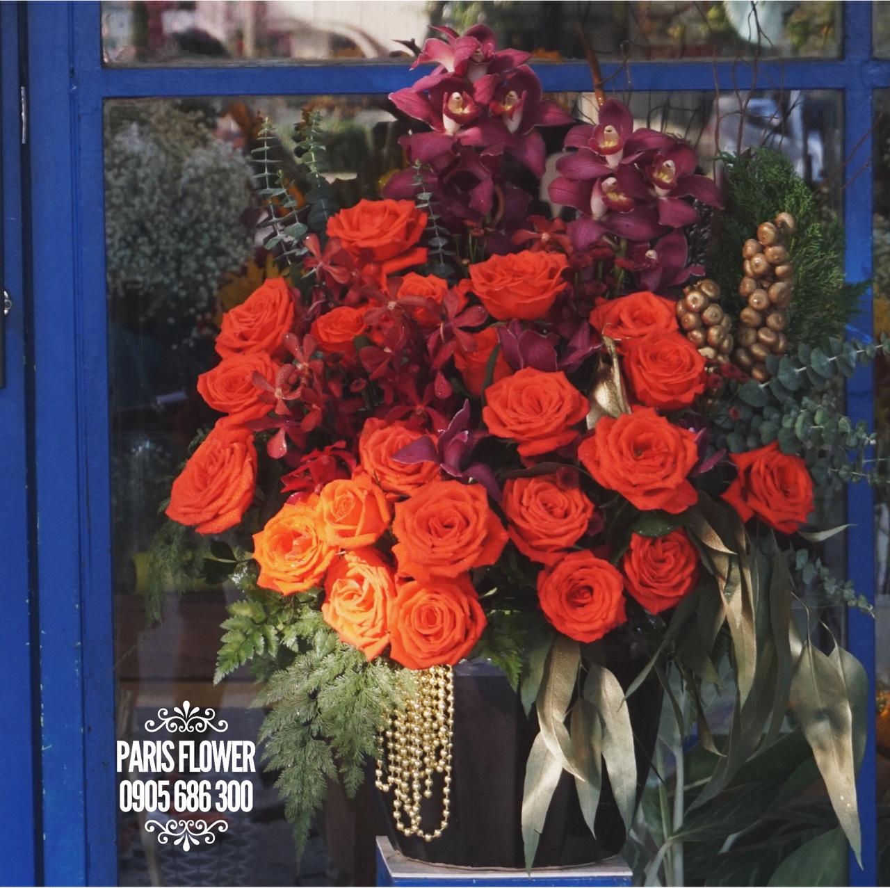 HH109 - hộp hoa hồng