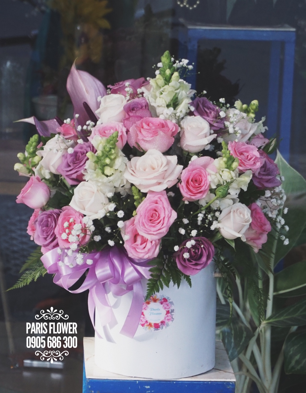 HH110 - hộp hoa