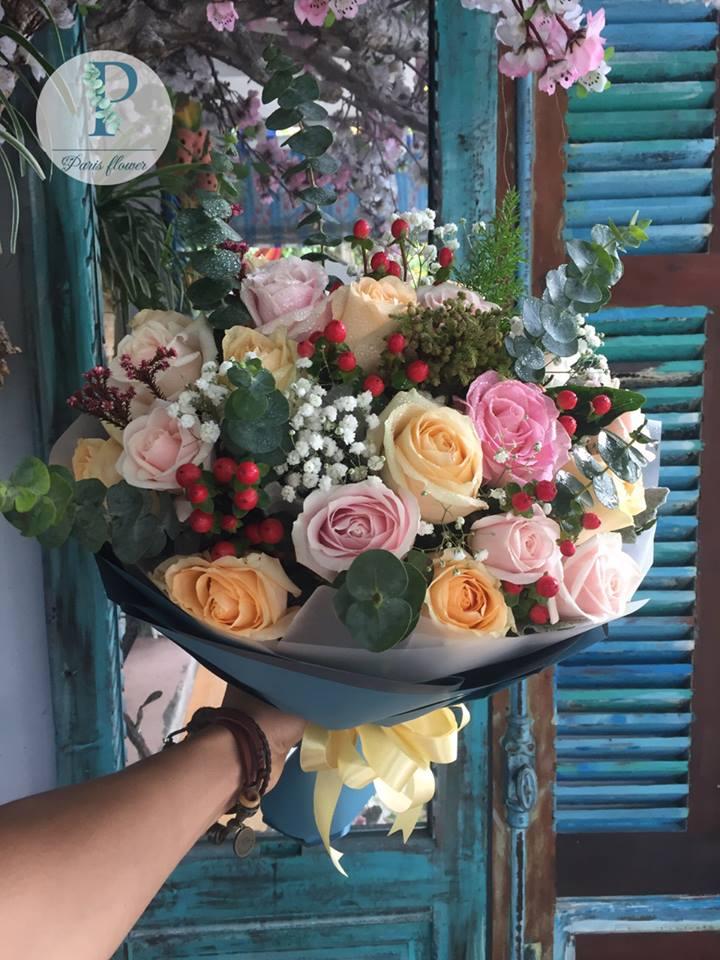 Hoa 13 - bó hồng