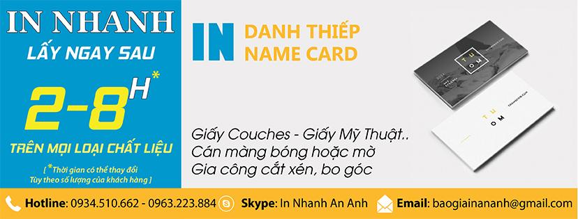 In danh thiếp, namecard lấy ngay sau 2 - 8h  tại In Ấn Anpic