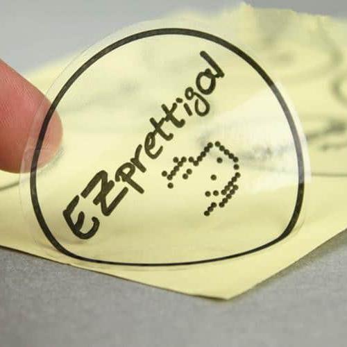 Thiết kế hình ảnh tem decal trong đơn giản thân thiện