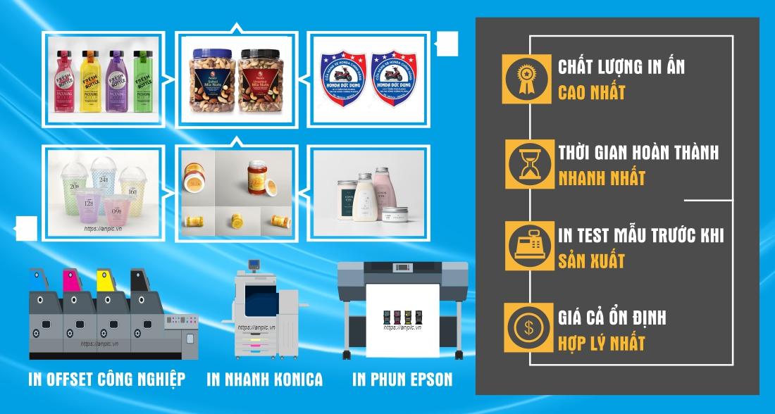 In tem decal nhựa chất lượng cao giá rẻ tại In Ấn Anpic