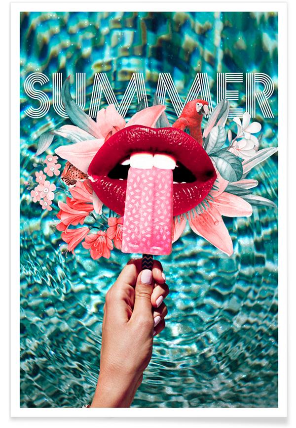In ấn poster kem cho mùa hè với những tone màu đặc trưng: xanh hiền hòa, đỏ rực rỡ, hồng tươi vui…