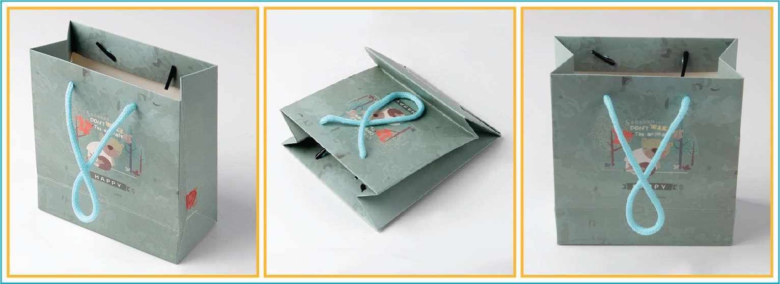 thiết kế  tạo mẫu túi xách giấy đựng quần áo thời trang đẹp