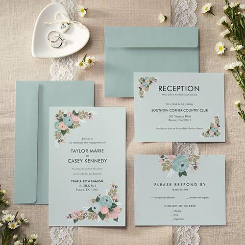 In thiệp cưới cổ điển bằng giấy Kraft