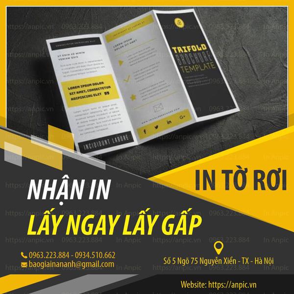 In Brochure nhanh lấy gấp chất lượng hàng đầu tại In Ấn Anpic