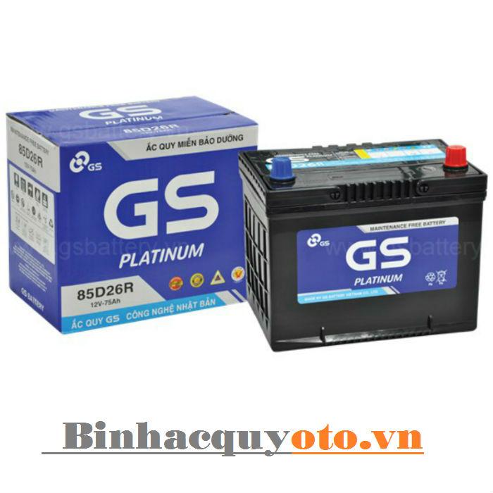 Ắc quy GS MF 85D26R (12V - 75Ah)